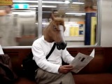 Маска лошади в метро